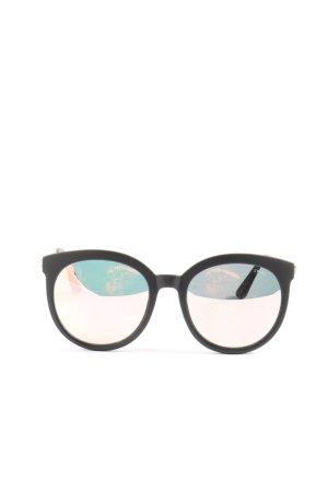 Quay runde Sonnenbrille schwarz Casual-Look