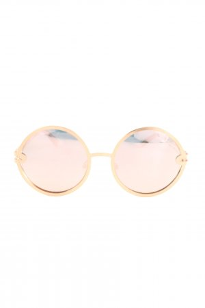 Quay runde Sonnenbrille goldfarben Casual-Look