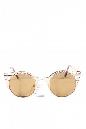 Quay Round Sunglasses gold-colored casual look
