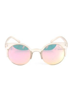 Quay runde Sonnenbrille wollweiß Casual-Look