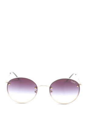 Quay runde Sonnenbrille goldfarben-lila Casual-Look