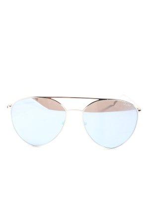 Quay runde Sonnenbrille silberfarben Casual-Look