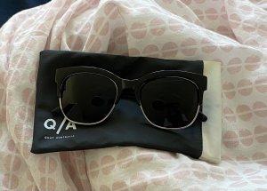 Quay Gafas de sol cuadradas negro-gris claro acetato