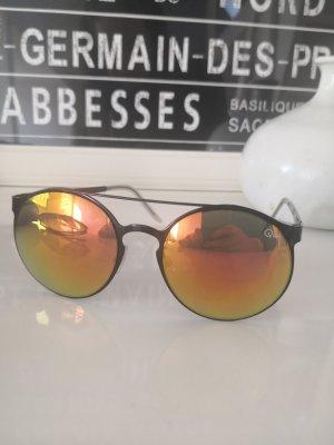 Quay Sonnenbrille rund vetspiegelt