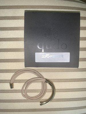 qudo Leather Bracelet gold-colored-beige