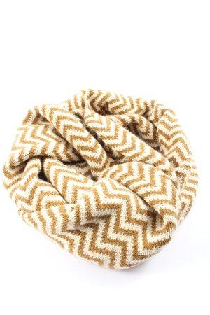 Quebramar Scaldacollo marrone-crema motivo a righe stile casual