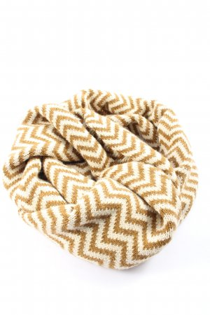 Quebramar Tube Scarf brown-cream striped pattern casual look