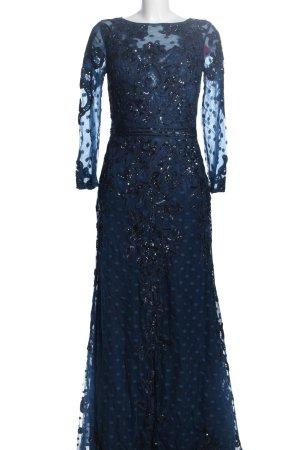 Queen Ballkleid blau Punktemuster Elegant