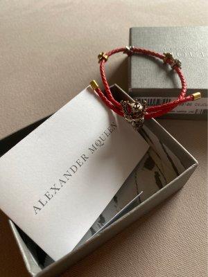 Alexander McQueen Armband rood Leer