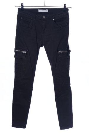 Queen Hearts Paris Skinny Jeans schwarz Casual-Look
