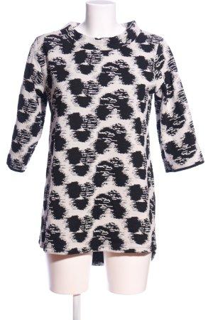 Queen Mum Sweatshirt schwarz-weiß Allover-Druck Casual-Look