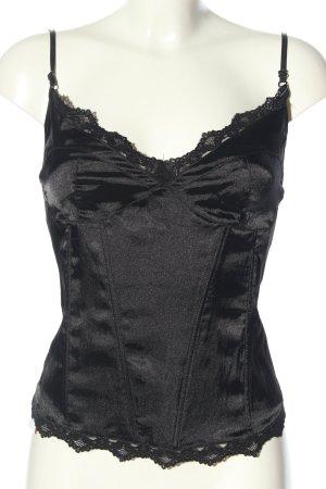 Queen of Darkness Haut type corsage noir élégant