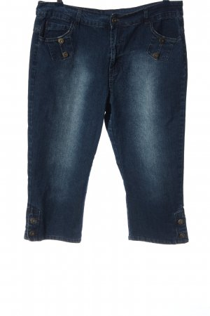 Queen-Size 3/4 Length Jeans blue casual look