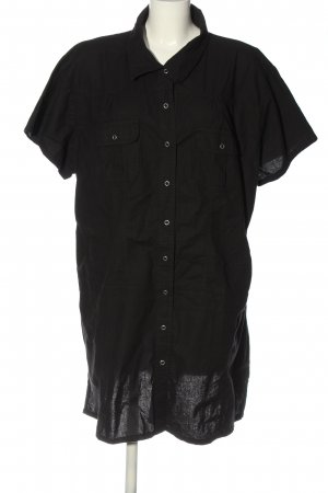 Queen-Size Short Sleeve Shirt black casual look