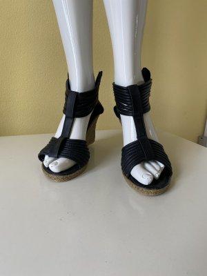 Queen Tina Wedge Sandals black