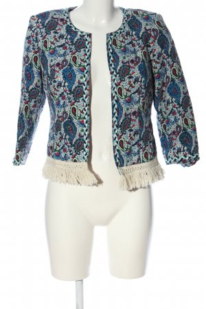 Queenie Blazer in jersey motivo astratto stile casual