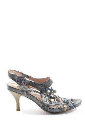 Queens Sandalias de tacón alto gris claro-azul elegante