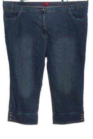 Queensize Jeans a 3/4 blu stile casual