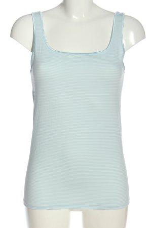 Queentex Ringelshirt blau-weiß Allover-Druck Casual-Look
