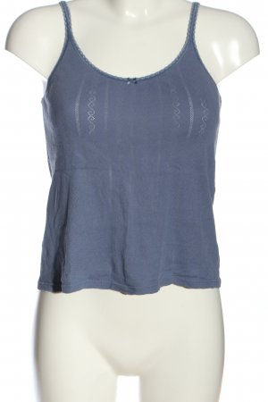 Queentex Top con bretelline blu stile casual
