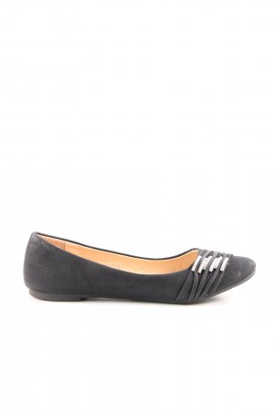 Queentina Foldable Ballet Flats black casual look