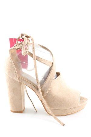 Queentina High Heel Sandaletten creme Elegant