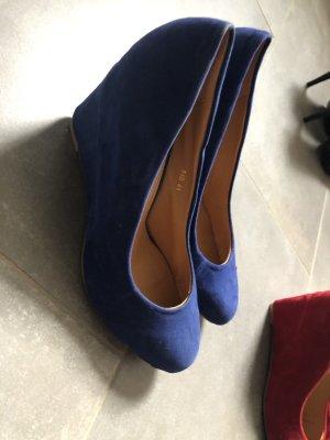 Queentina Zapatos de cuña azul