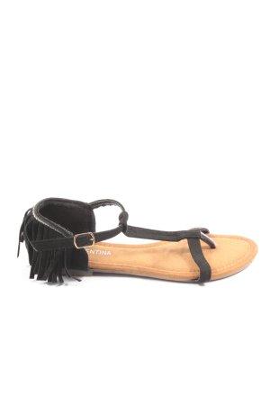 Queentina Sandalo comodo nero stile casual