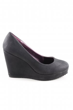 Queentina Plateau-Pumps schwarz Casual-Look