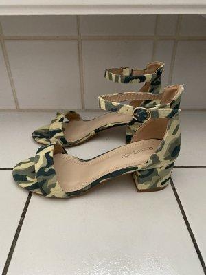 Queentina Riemchen Sandalen Camouflage Military Gr 37