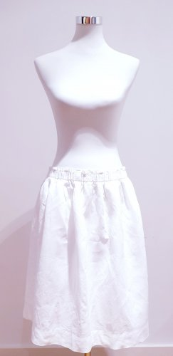 Qui Linen Skirt white linen
