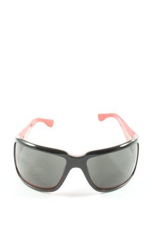 Quicksilver Occhiale da sole spigoloso nero-rosso stile casual