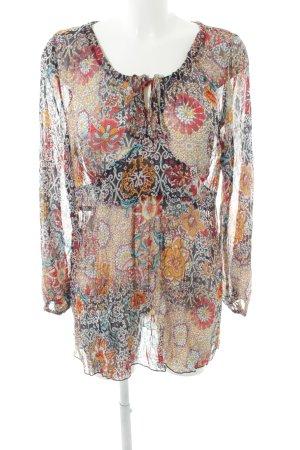 Quiero Langarm-Bluse abstraktes Muster Casual-Look