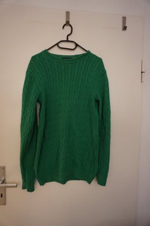 Charles Tyrwhitt Coarse Knitted Sweater green cotton