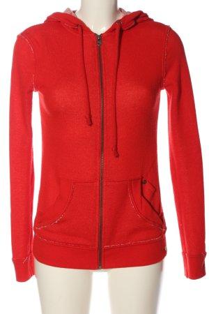 Quiksilver Sweat à capuche rouge style décontracté