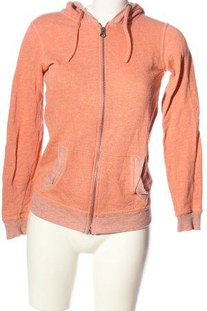 Quiksilver Sweat à capuche orange clair moucheté style décontracté
