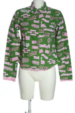Quiksilver Chemise à manches longues vert-rose imprimé allover
