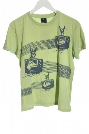 Quiksilver Print Shirt green-blue themed print casual look
