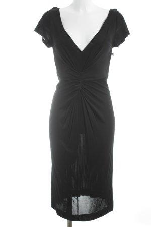 R.E.D. Valentino Kurzarmkleid schwarz klassischer Stil