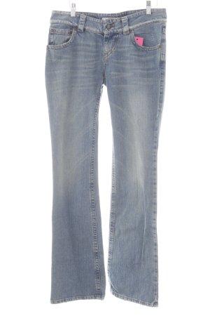 R.E.D. Valentino Straight-Leg Jeans hellblau meliert Casual-Look