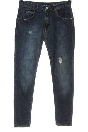R Jeans Jeansy typu boyfriend niebieski W stylu casual