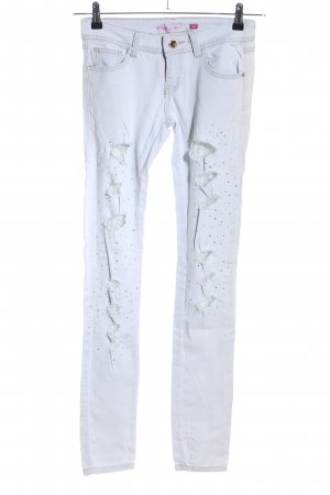 R JONACO denim Vaquero skinny blanco look casual