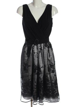 R&M Richards Abendkleid schwarz Allover-Druck Elegant