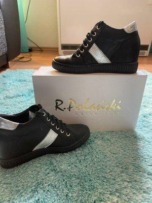 R.Polanski Zapatos de cuña color plata-negro
