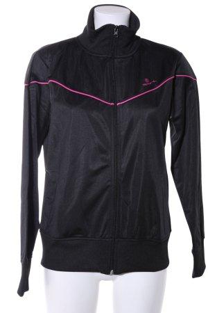 R Sport Sportjacke schwarz-pink Casual-Look