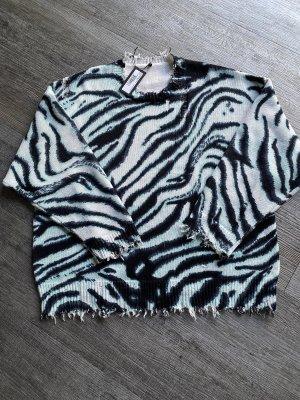 R13 Pullover Zebra Print, Gr. S, wie neu mit Etikett