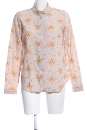 R95th Hemd-Bluse creme-pink abstraktes Muster Casual-Look