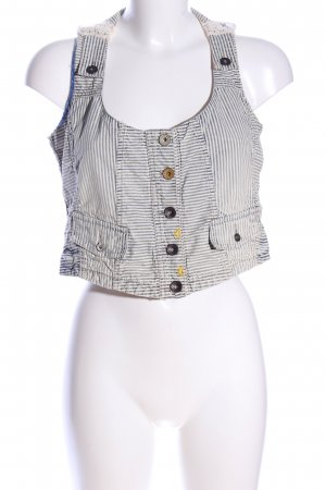 R95th Jeansweste Blumenmuster Casual-Look
