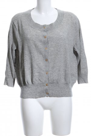 R95th Strick Cardigan hellgrau meliert Casual-Look
