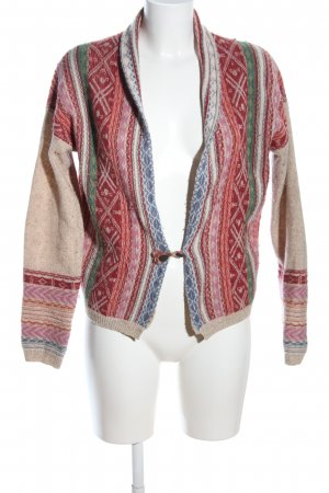 R95th Strickjacke Allover-Druck Casual-Look